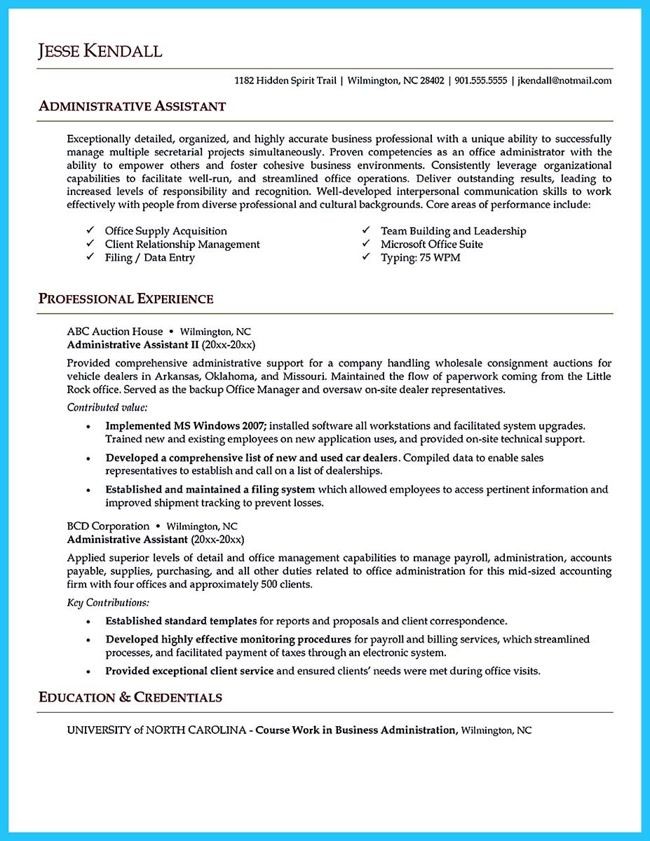 Administrative resume template retail sales assistant cover letter proofreading and editing for school term papers and dissertations qa spiritdancerdesigns Image collections