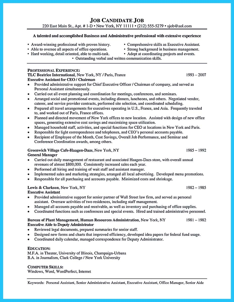 professional administrative resume sample to make you get the job