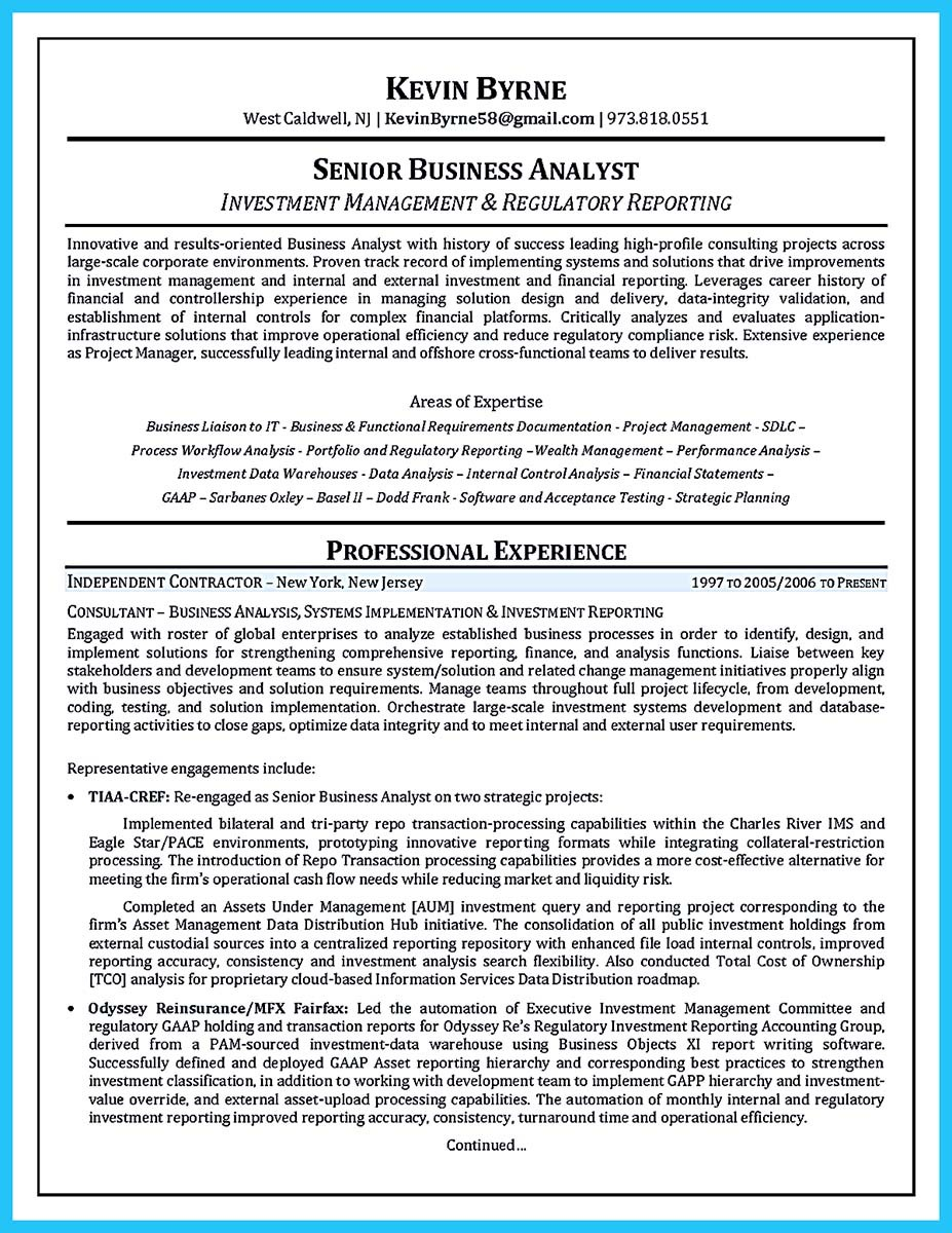 A Business Analyst Resume Agile Business Analyst Resume Sample ...  Ba Resume