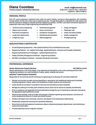 Convincing Design and Layout for Aircraft Mechanic Resume  %Image Name