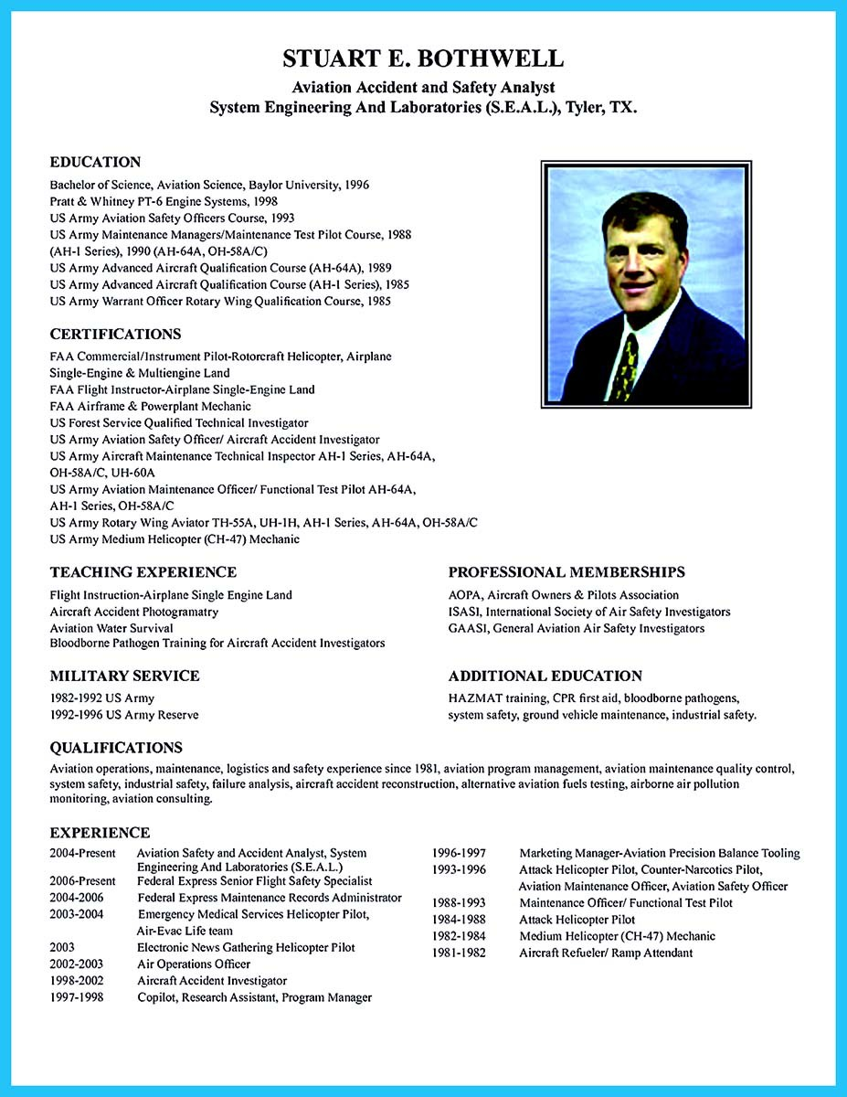 resume sample 325x420 aircraft maintenance technician resume sample