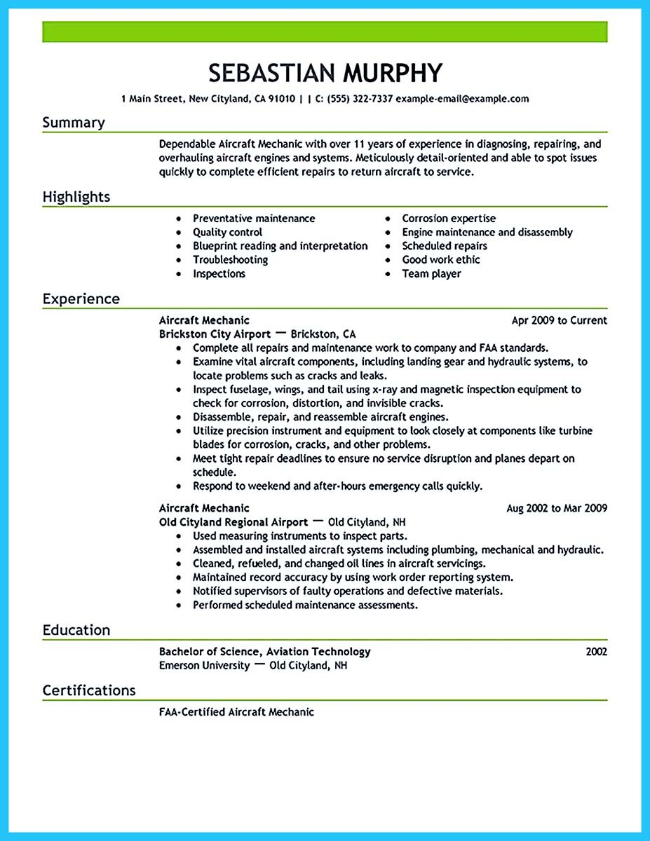 Successful Low Time Airline Pilot Resume