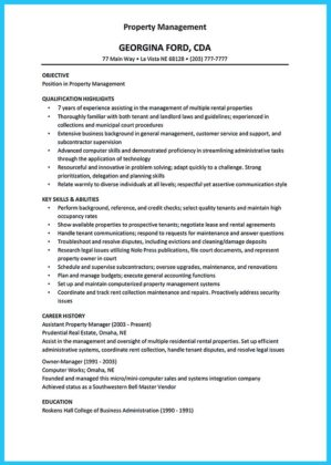 apartment maintenance manager resume