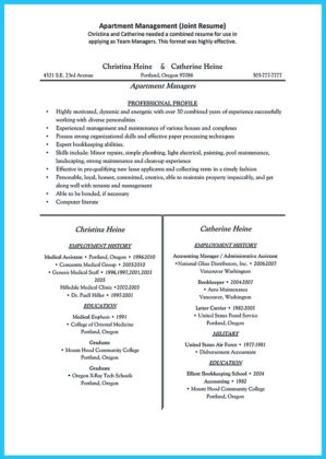 apartment manager resume objective