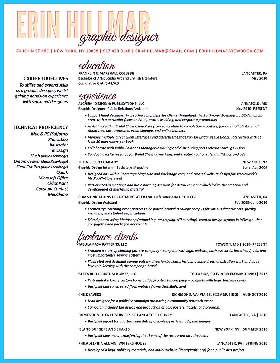 teacher resume format