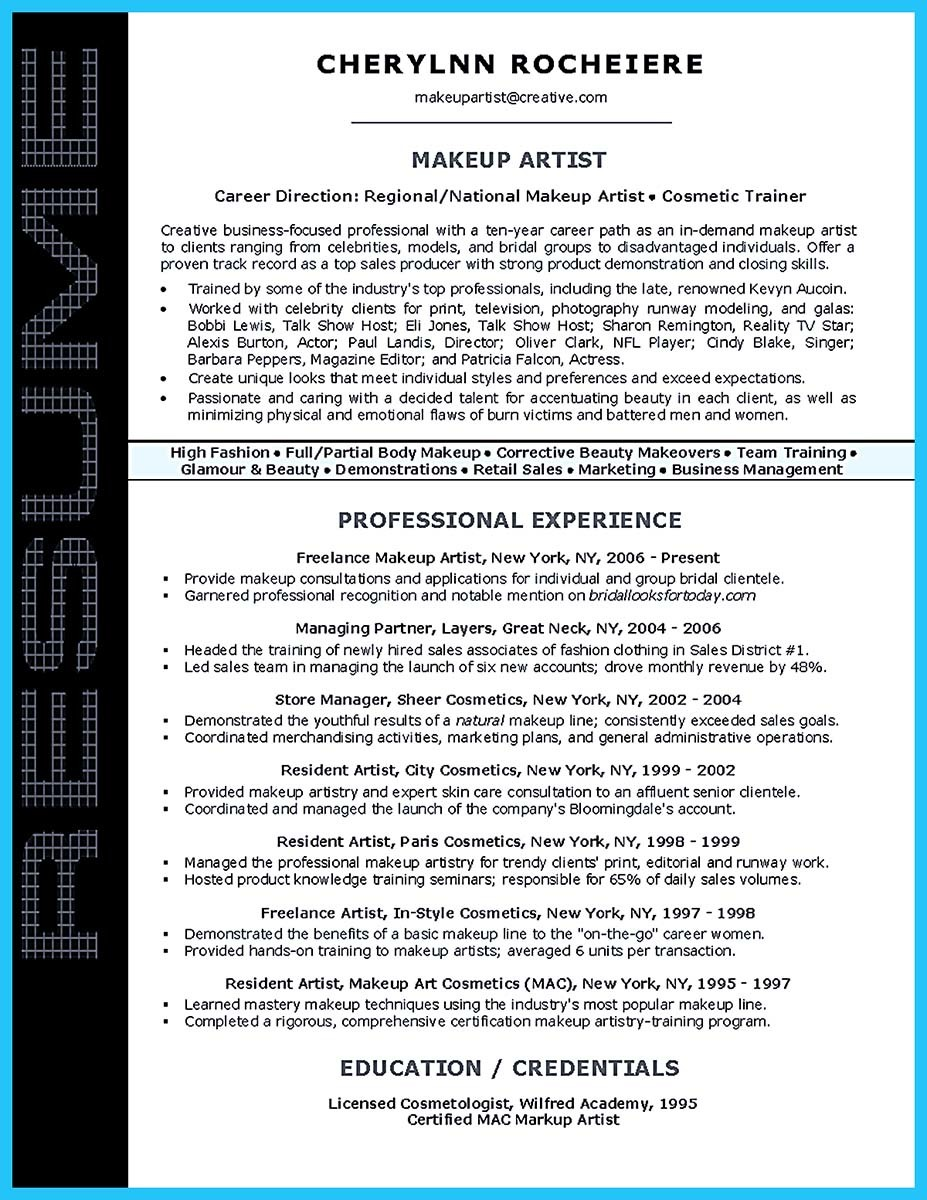 artist resume template that look professional