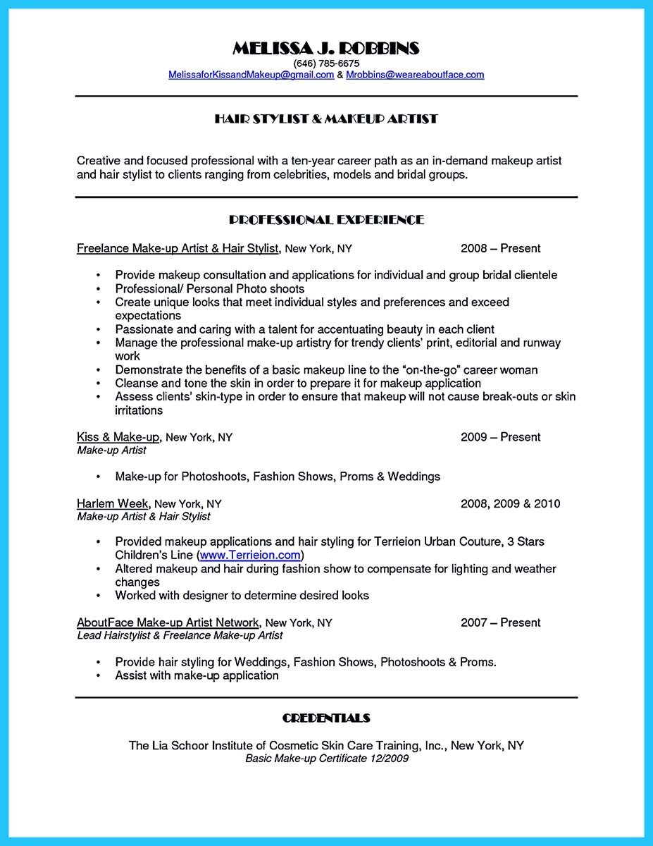 ... Artist Resume Templates ...  Resume For Artist