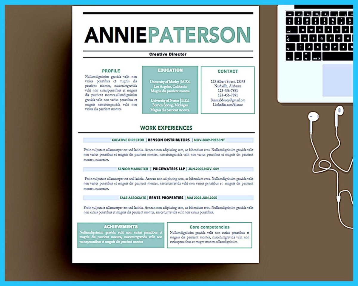 Custom and Unique Artistic Resume