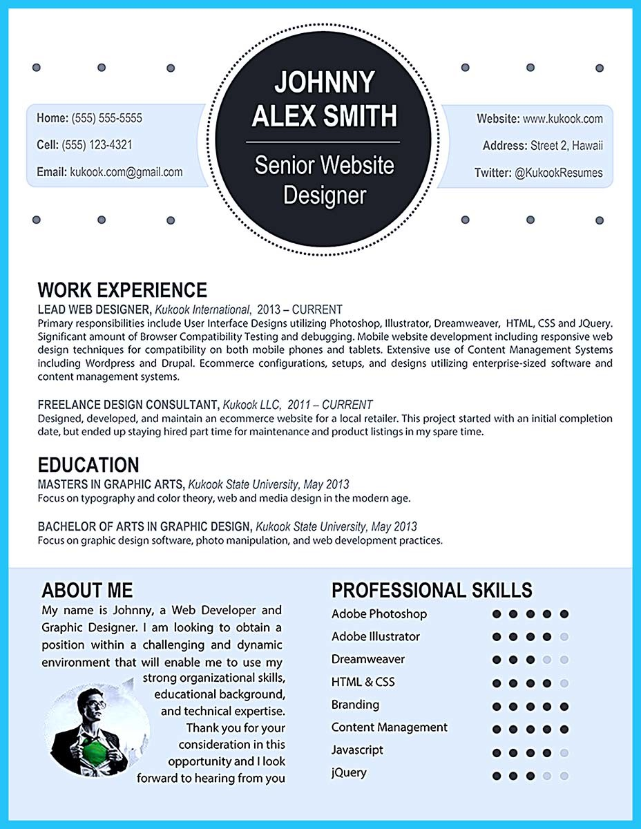 ... Artistic Resume Templates Download ...