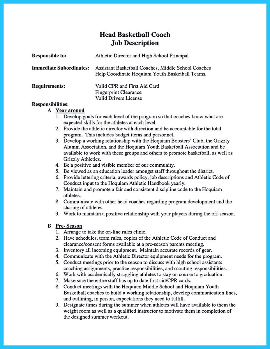 Cover Letter For Basketball Coach Gallery - Cover Letter Ideas
