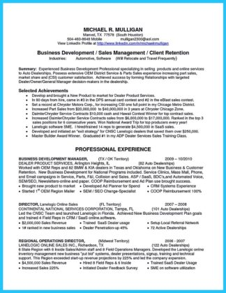 assistant business development manager resume