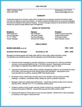 assistant buyer objectives for resume
