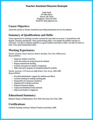 assistant cook resume