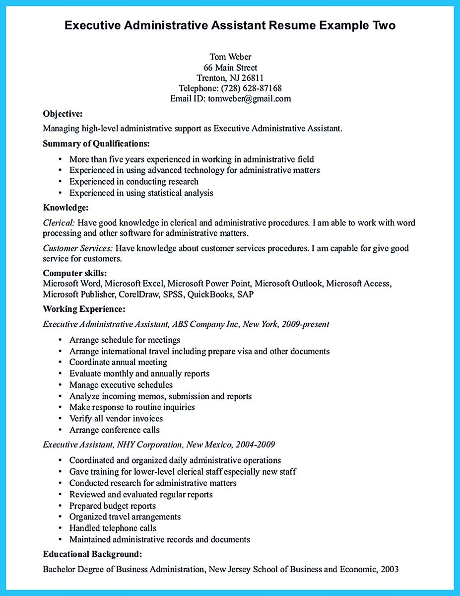 assistant manager cv sample