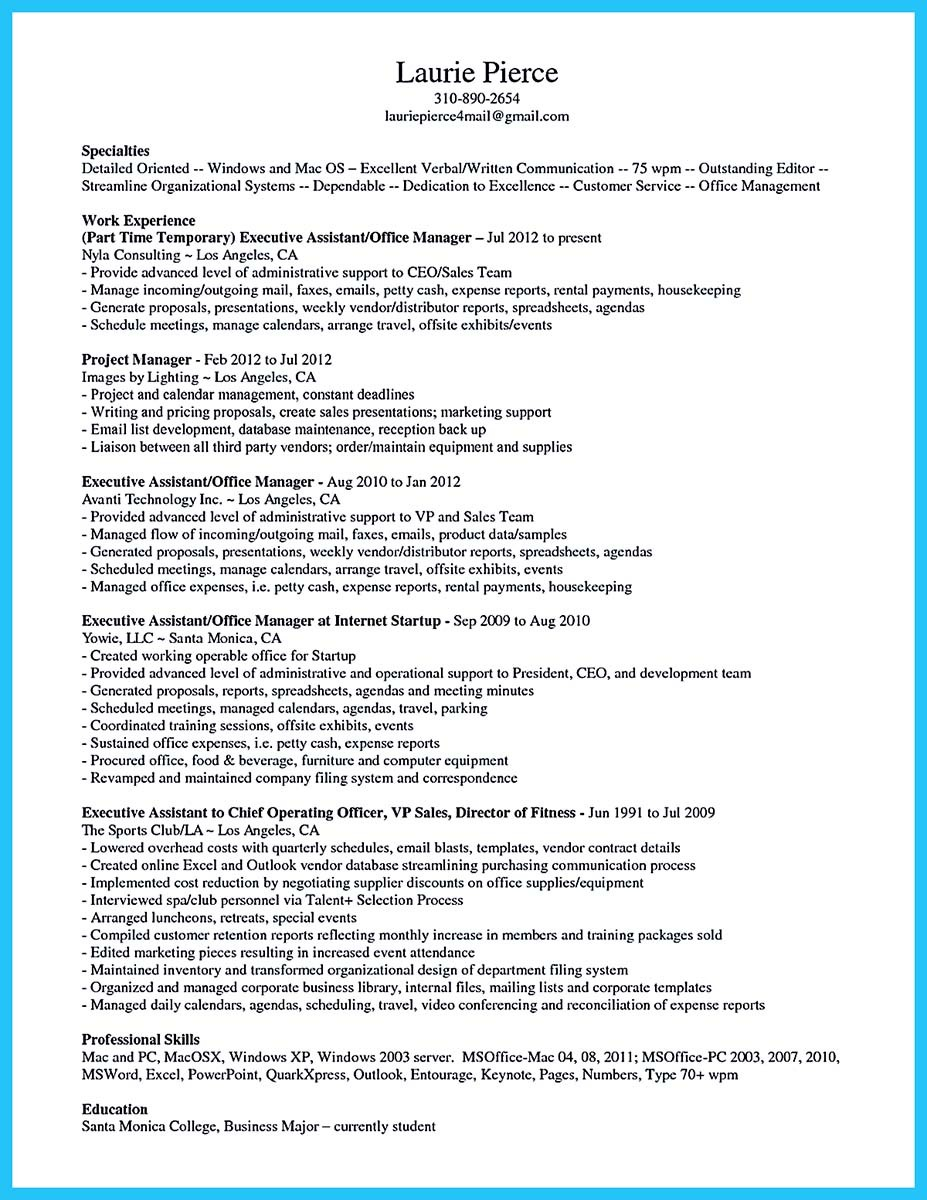 assistant manager resume examples - Resume Examples For Assistant Manager