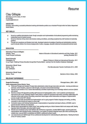 an effective sample of assistant principal resume how to