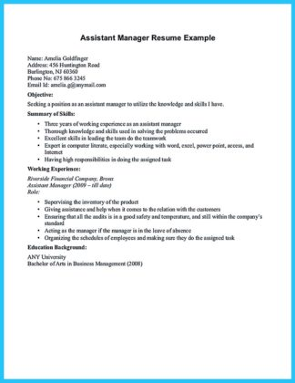 Writing a Great Assistant Property Manager Resume  %Image Name