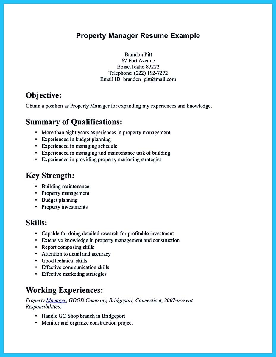 assistant property manager resume template and resume of assistant property manager
