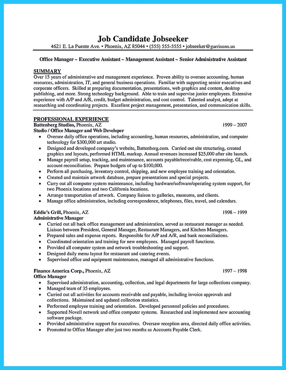 assistant resume