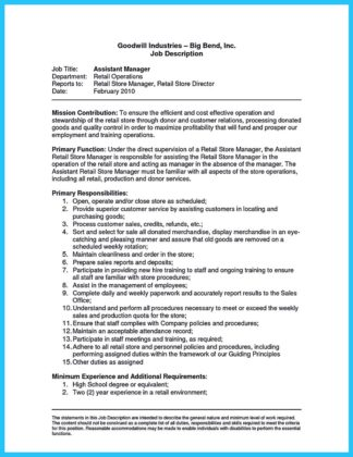 Crafting a Great Assistant Store Manager Resume  %Image Name