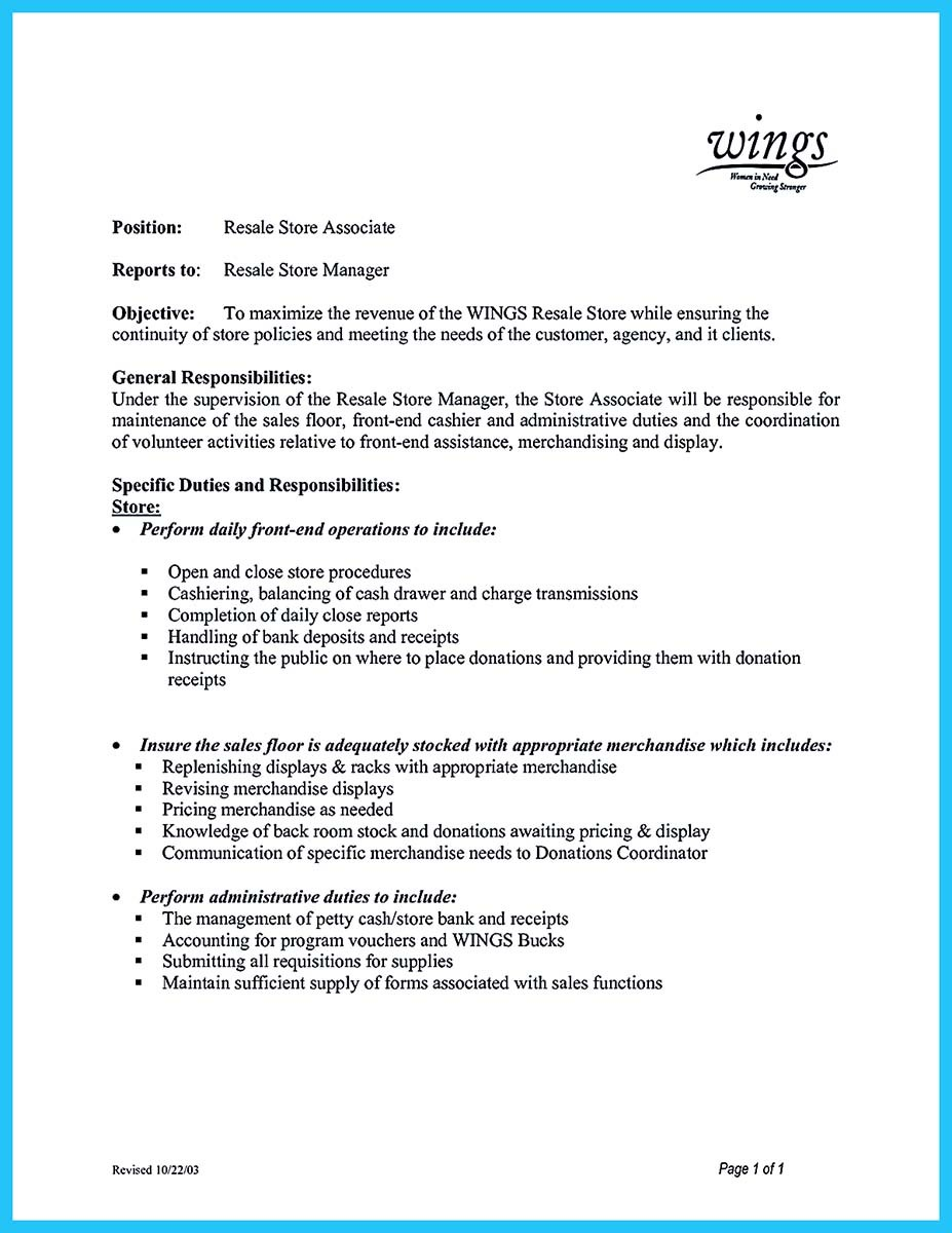 assistant store manager resume sample and assistant store manager retail resume