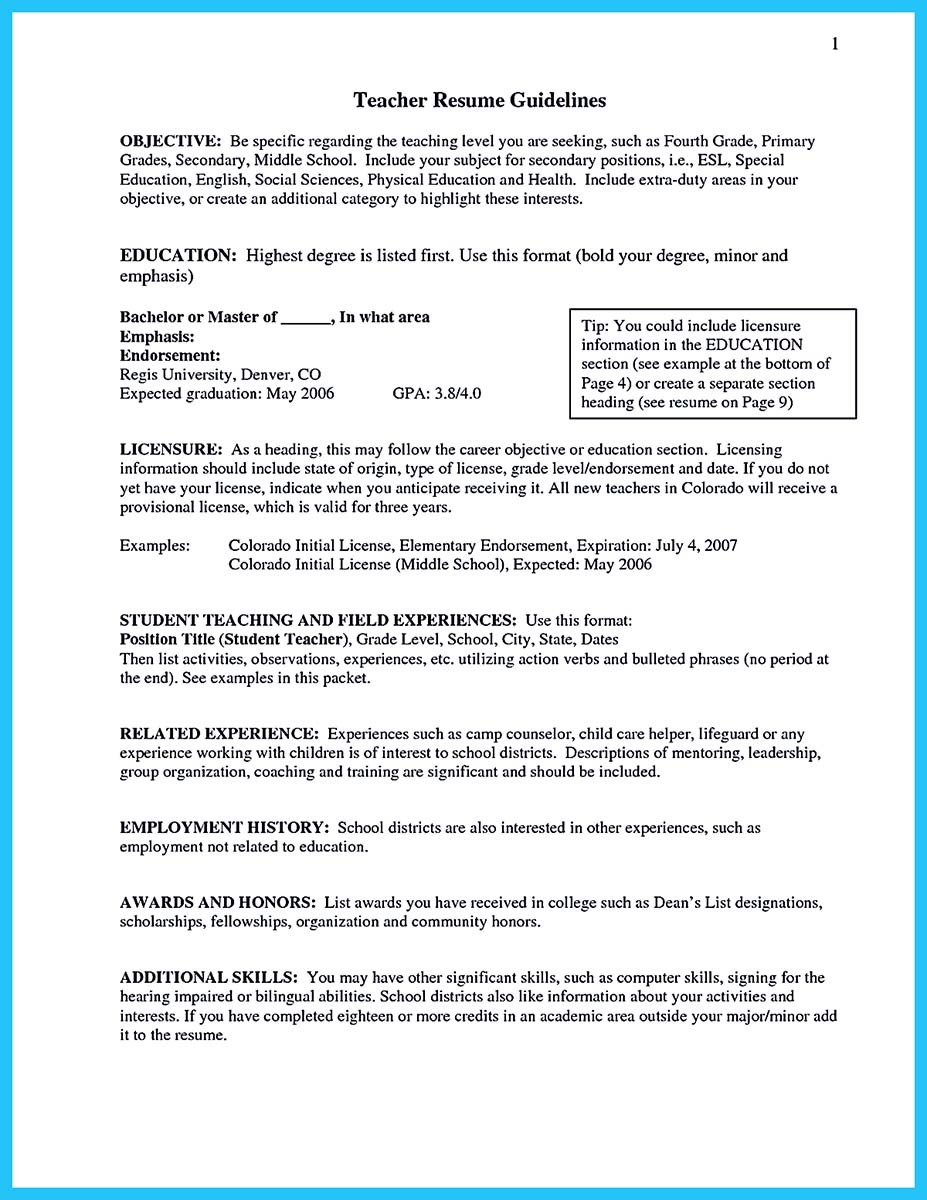 Grabbing Your Chance with an Excellent Assistant Teacher Resume