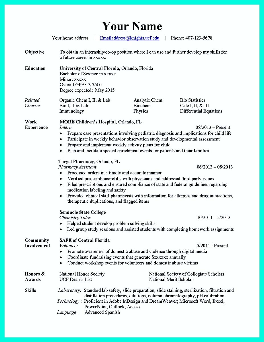 associate degree computer science resume