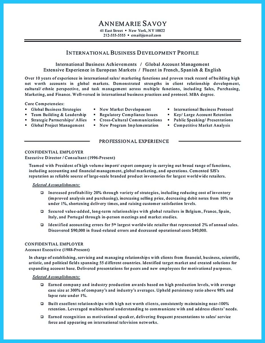 associate degree in business administration resume