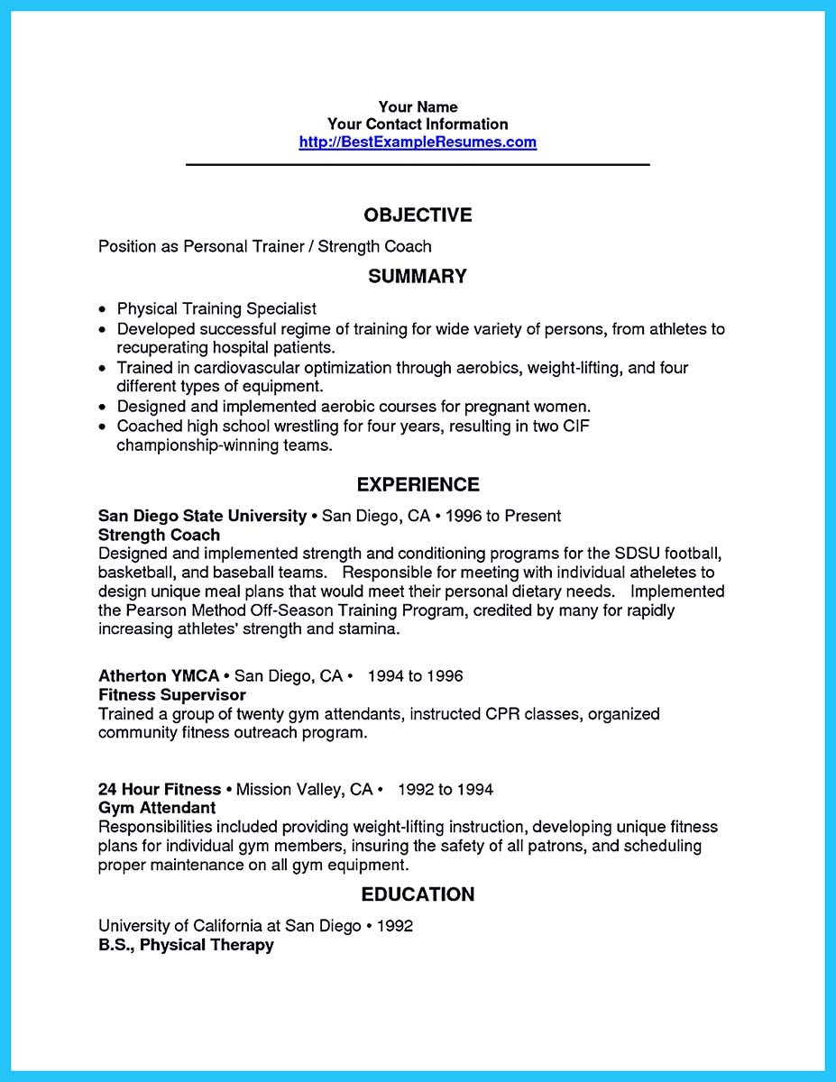 Writing your athletic training resume carefully for Training officer job description template
