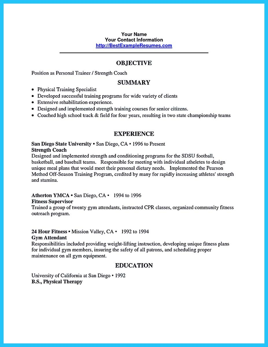 Writing Your Athletic Training Resume Carefully