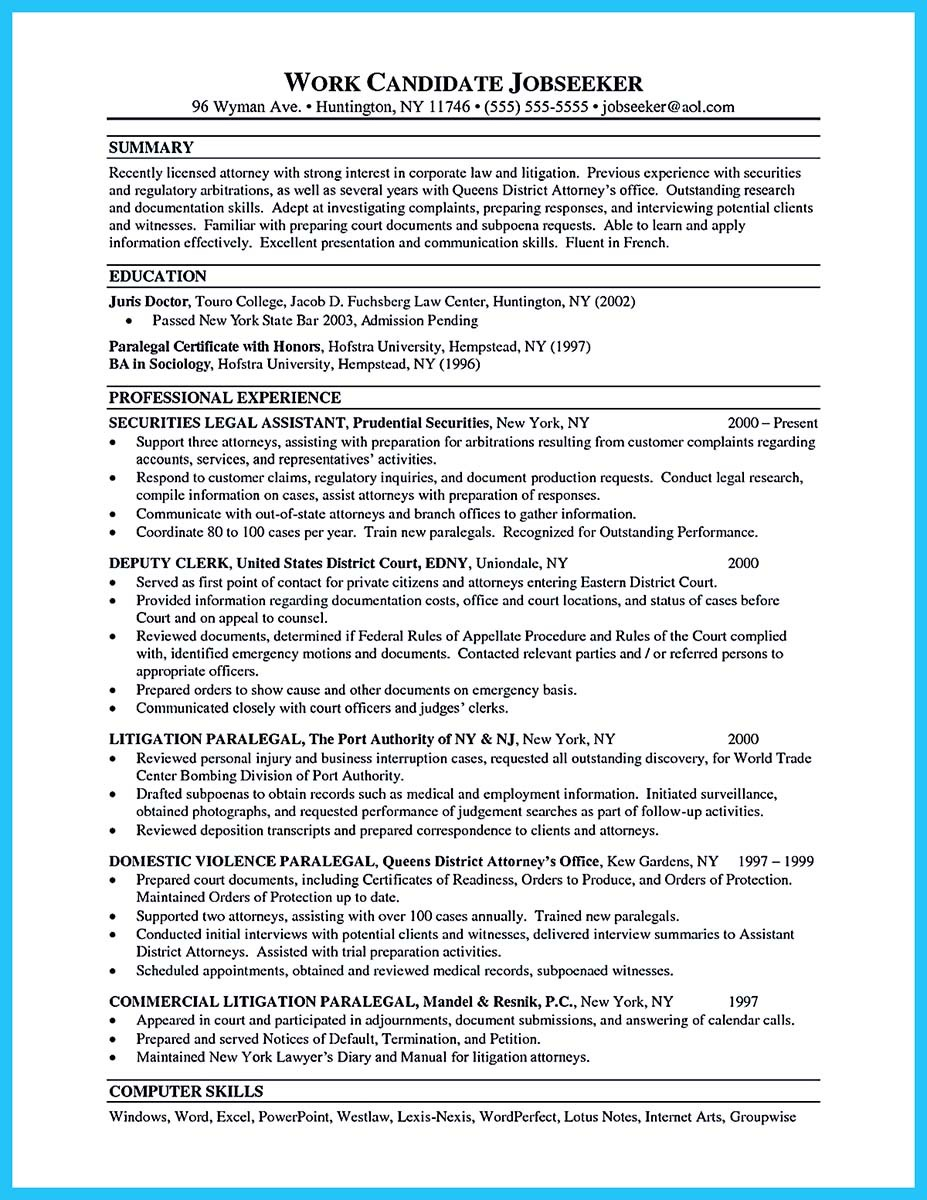 attorney resume examplesattorney resume template word