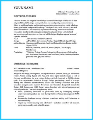 Crafting a Representative Audio Engineer Resume  %Image Name