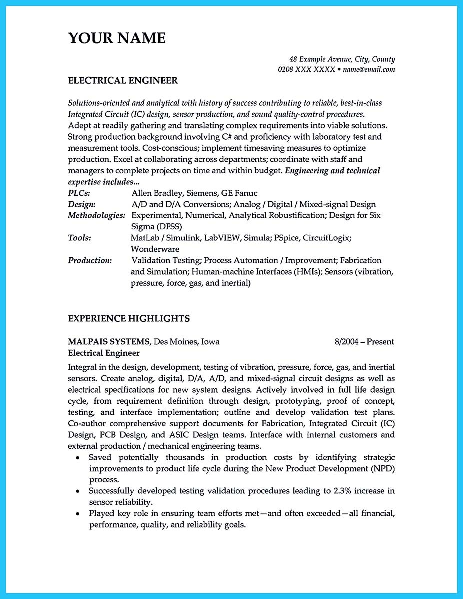 audio video engineer resume