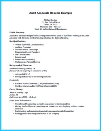 audit associate resume sample and lead auditor resume sample