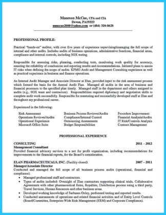 audit manager resume sample and auditor resume format