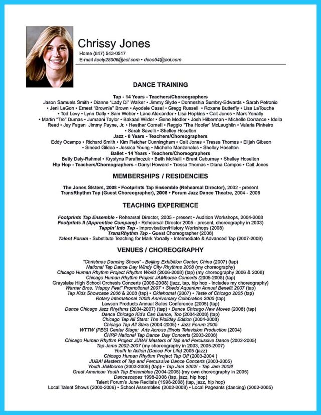 audition resume sample template (30)