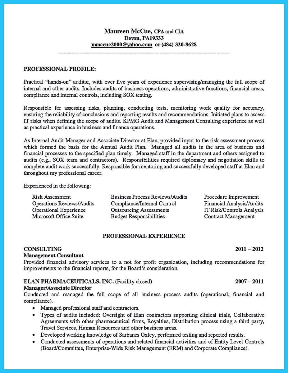Understanding A Generally Accepted Auditor Resume