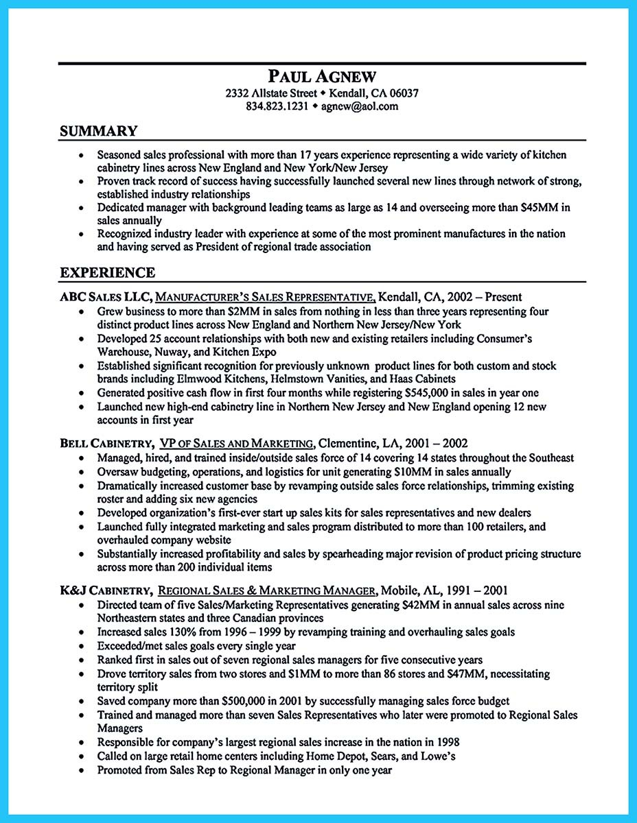 Automobile general sales manager resume