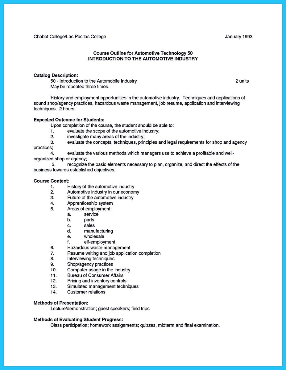 auto mechanic resume objective