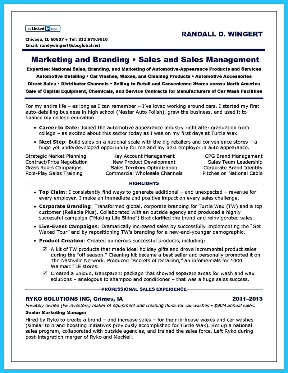 auto sales job description for resume