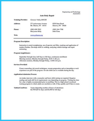 automotive technician resume examples automotive technician