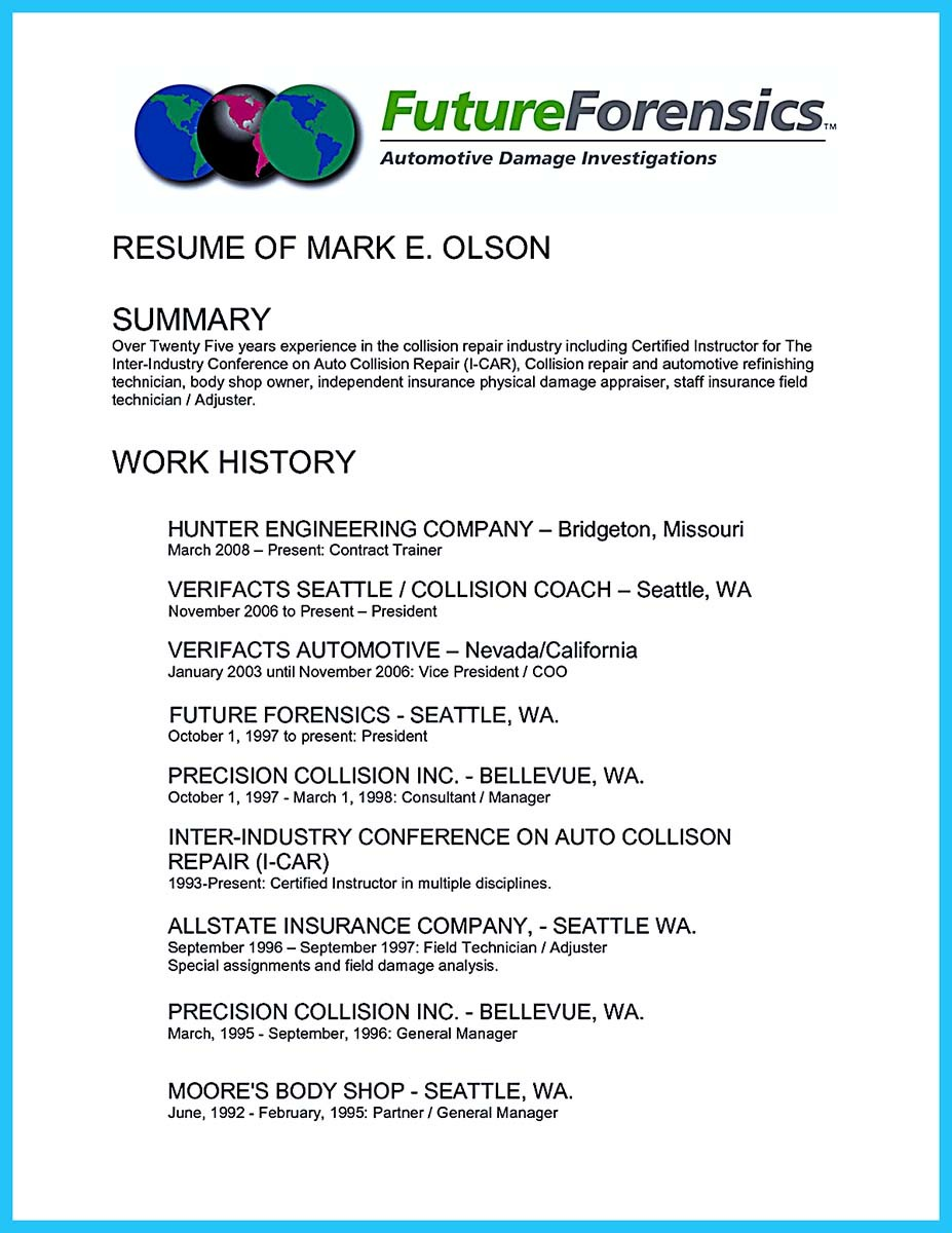 automotive technician assistant resume