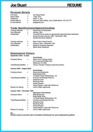 Writing a Concise Auto Technician Resume | How to Write a Resume ...