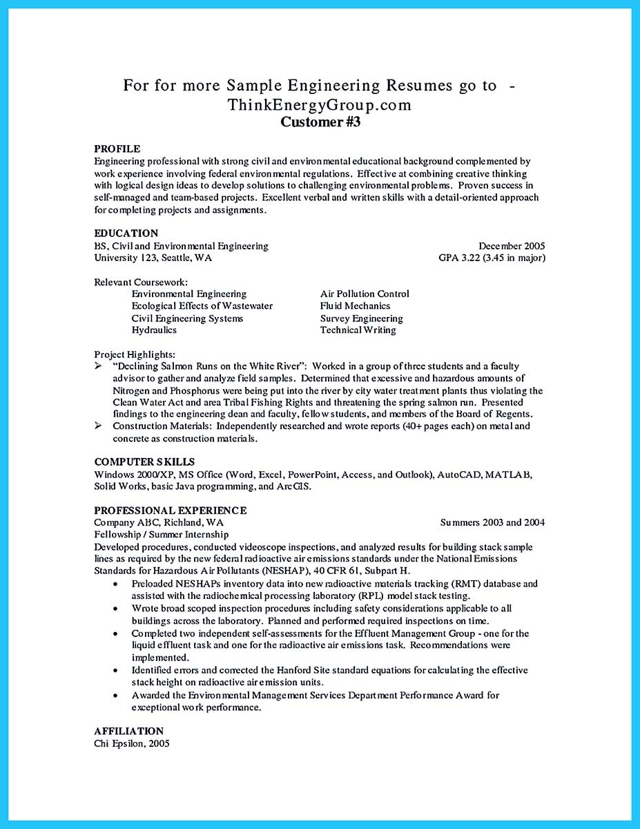 automotive technician resume and cover letter - Wastewater Technician Resume Sample