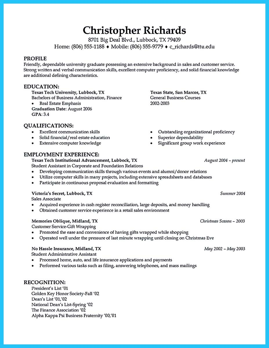 automotive technician resume format