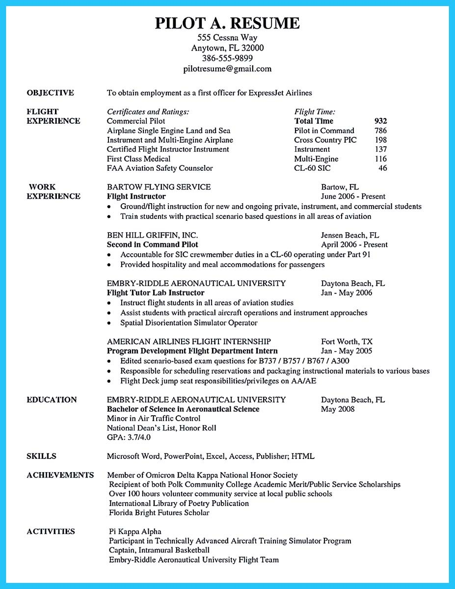 aviation resume canada