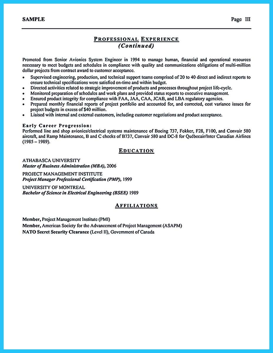 aviation resume pdf