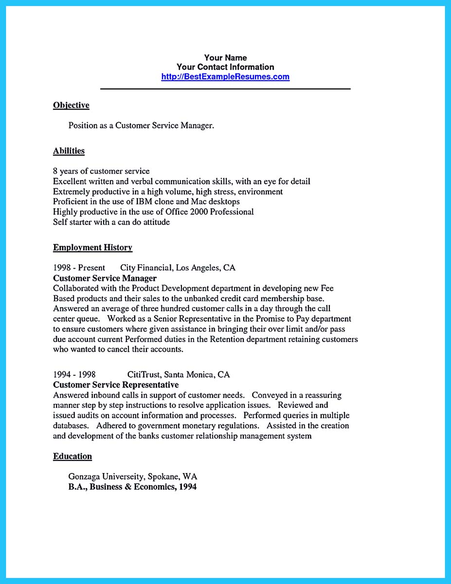 bank csr resume sample