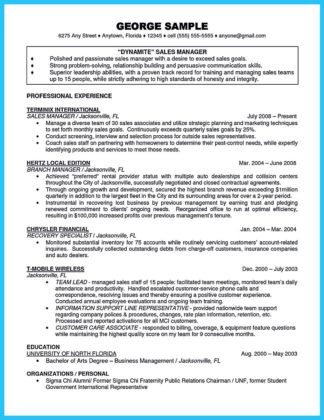 bank manager resume example