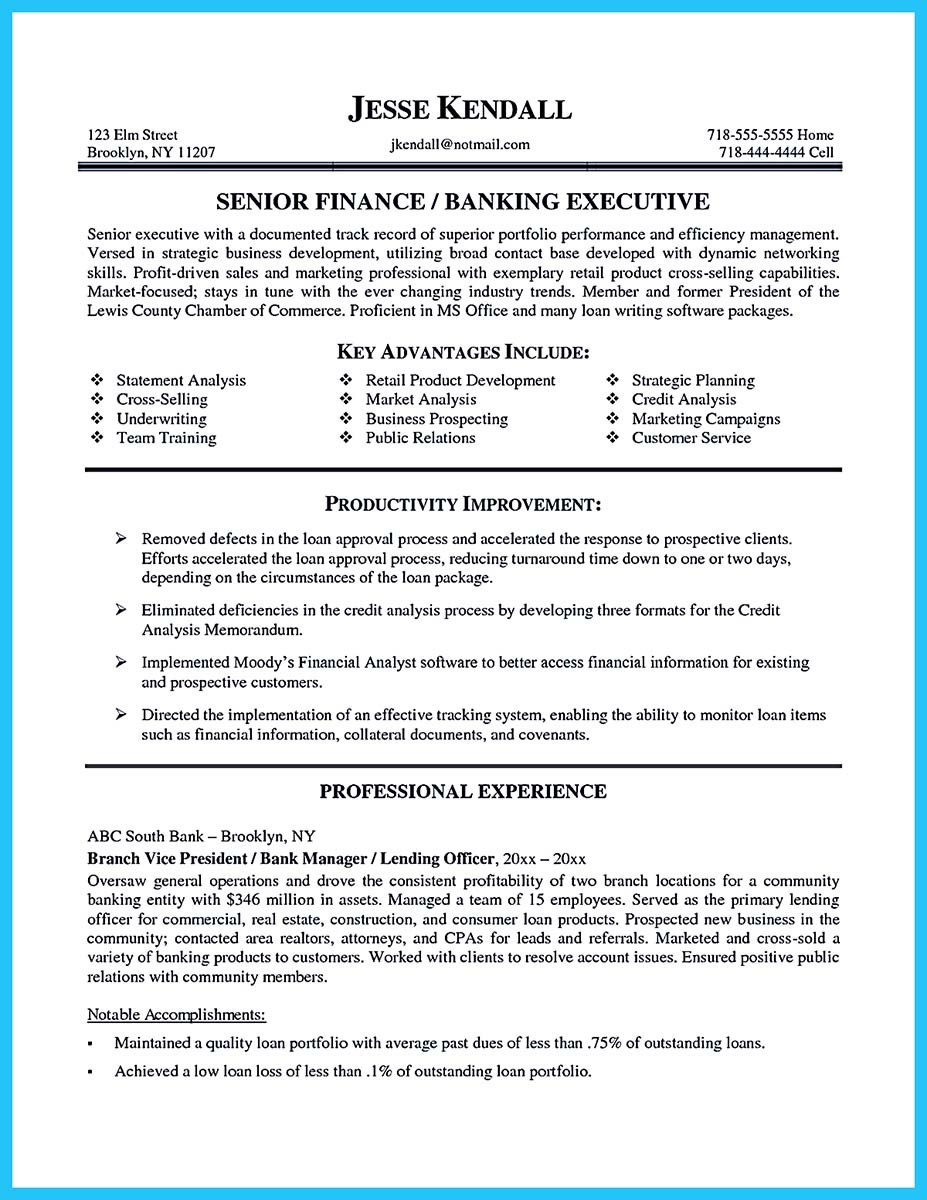 bank manager resume skills